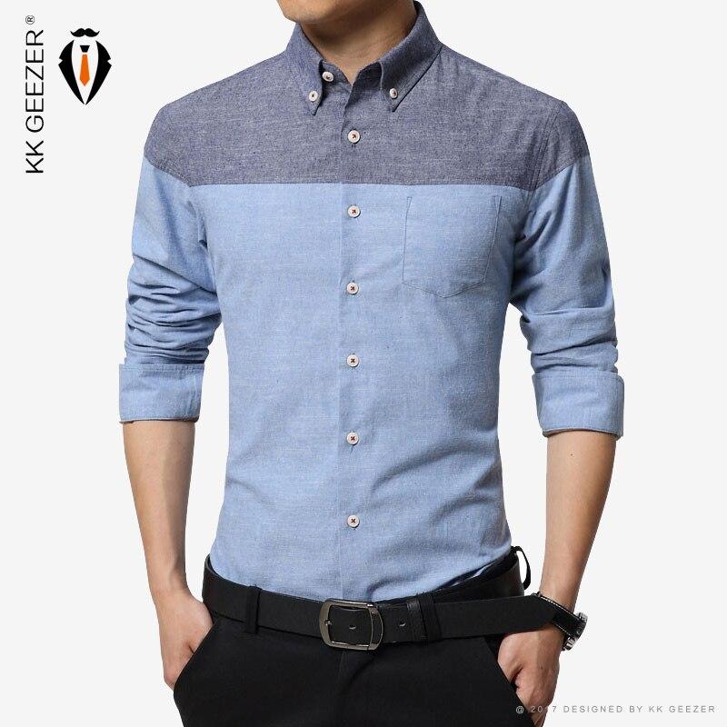 Camisa de hombre, camisa de esmoquin de franela, camisas 100% de algodón para hombre, camisa informal ajustada a rayas, vestido, camisa de manga larga para hombre de gran tamaño, confort suave