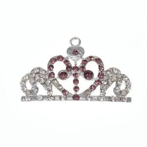 10pcs/lot  Fashion Jewelry Rhinestone Crown Shape Pendant For Necklace