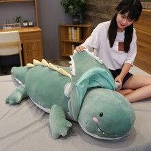 100/120cm géant dinosaure tour à Crocodile Animal en peluche jouets mignon doux dessin animé Dragon poupée sommeil oreiller cadeaux danniversaire