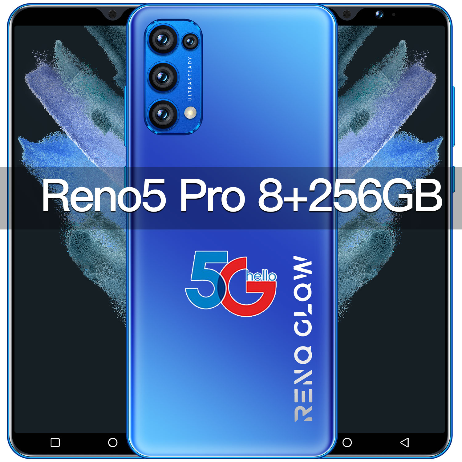 Rino5-Global Cell Phone, Smartphone with Fingerprint Recognition, Android 10, Mtk6889, Cordless, 6.0gb/128gb, 16+32mp