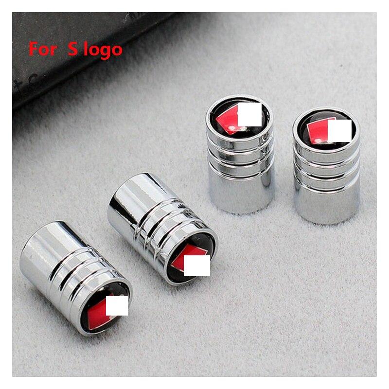 Tapas de válvula de neumático de coche para audi-DS, tapas de válvula de tornillo antirrobo para neumático de coche, tapas de válvula central con estilo para válvula de coche