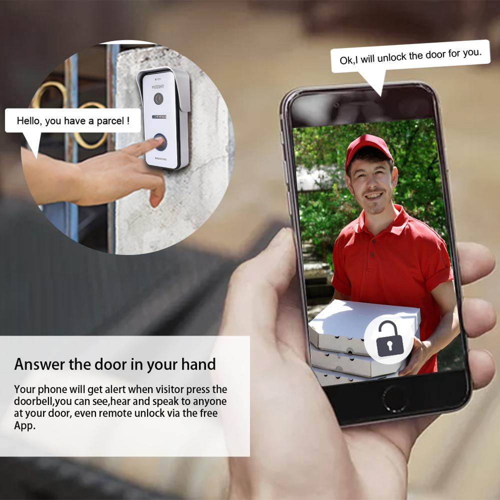 Wired Doorbell Outdoor Unit 720p (need to work with Tmezon IP 10 inch Intercom monitor, cannot work alone) enlarge