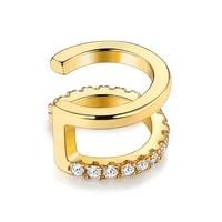 silverhoo geometric clip earrings for women 925 sterling silver white round clear cubic zirconia luxurious earring fine jewelry
