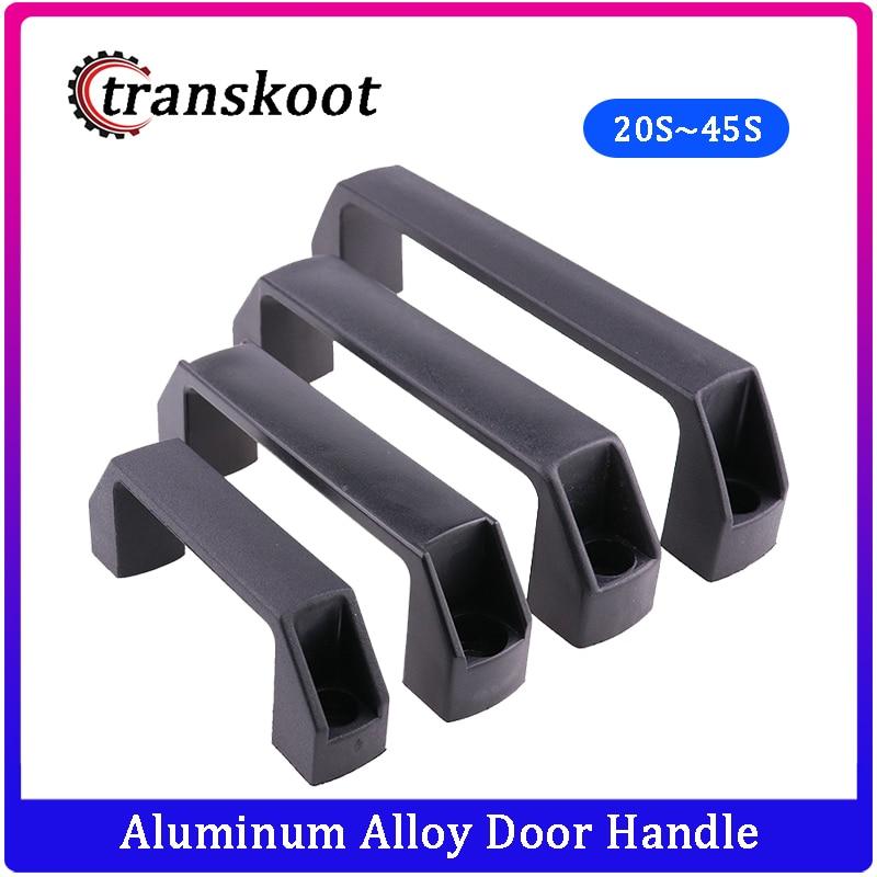 2pcs Black Aluminum Alloy Door Handle Alloy for Aluminum Extrusion Profile 2020/3030/4040/4545 Series