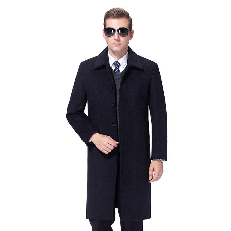 2021 الرجال معطف الصوف الشتاء معطف طويل الرجال معطف من قماش الكشمير رجل Peacoat الخريف رجل معطف الصوف مزيج طويل سترة رجالي معطف
