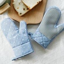 1 par de guantes para horno y microondas con aislamiento térmico especial, Guantes para horno y horno, mitones de cocina gruesos resistentes a la cocción