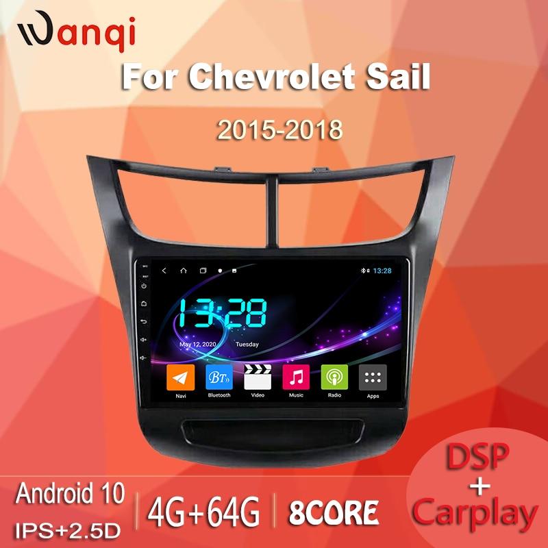 Reproductor Multimedia de Radio para coche wanqi 4G + 64G Android 10,0 TS9 para CHEVROLET sail 2015-2018, navegación GPS, DVD con dsp carplay