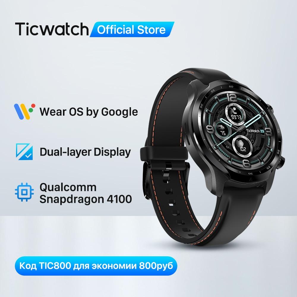 TicWatch Pro 3 GPS Wear OS Smartwatch Men's Sports Watch Dual-layer Display Snapdragon Wear 4100 8GB