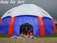 ענק 10m קוטר מלא כיסוי בד מתנפח כפול כיפת אוהל מתנפח עכביש אוהל עבור מקלט עם לוגו