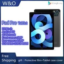 Pad Pro 10.1'' Tablet 1920x1200 4G Network wifi pad pro tablet 6GB RAM 128GB ROM Smart Tablets PC An