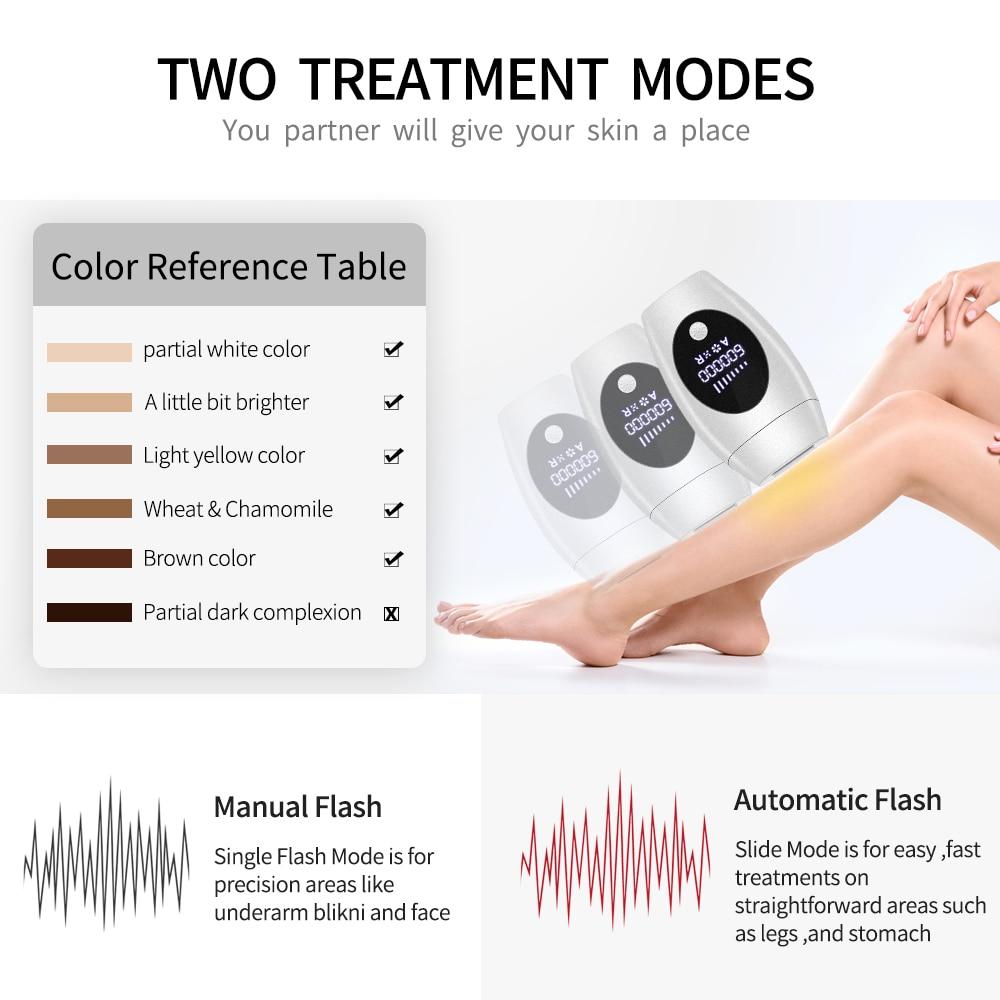 Nieuwe Ontharing Professionele Permanente Laser Epilator Voor Vrouwen 600000 Flash Lcd-scherm Bikini Ipl Laser Ontharing Machine enlarge