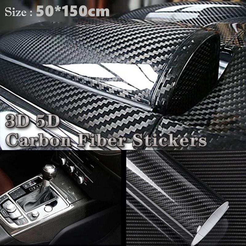 AliExpress - 50*150CM 3D/5D Automobile Carbon Fibre Vinyl Wrap Car Body Color Changing Film High Brightness Stereo Motorcycle Refitting Film