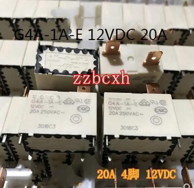 2 PÇS/LOTE Original Novo G4A-1A-E 12VDC 20A 4PIN