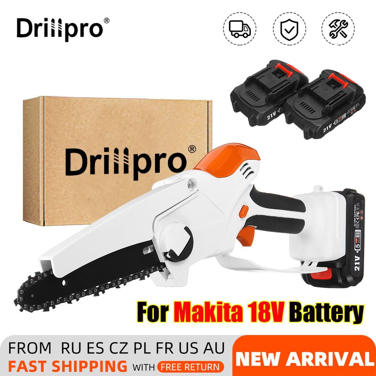 Drillpro 20000mAh 21 فولت 6 بوصة منشار كهربائي صغير قابلة للشحن بالمنشار 2 بطاريات حديقة أداة السلطة لبطارية ماكيتا 18 فولت