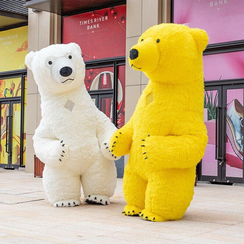 هالوين كبير نفخ الدب القطبي زي التميمة دعوى تأثيري لعبة حفلة فستان