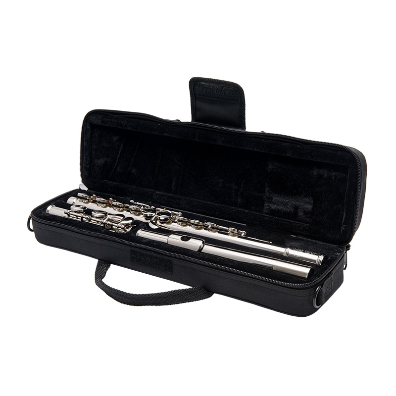 FLOFAIR FL-218 Western Orchestral Flute Instrument Military Band C Key 16 Closed Hole Copper Nickel Plating Adult Playing enlarge