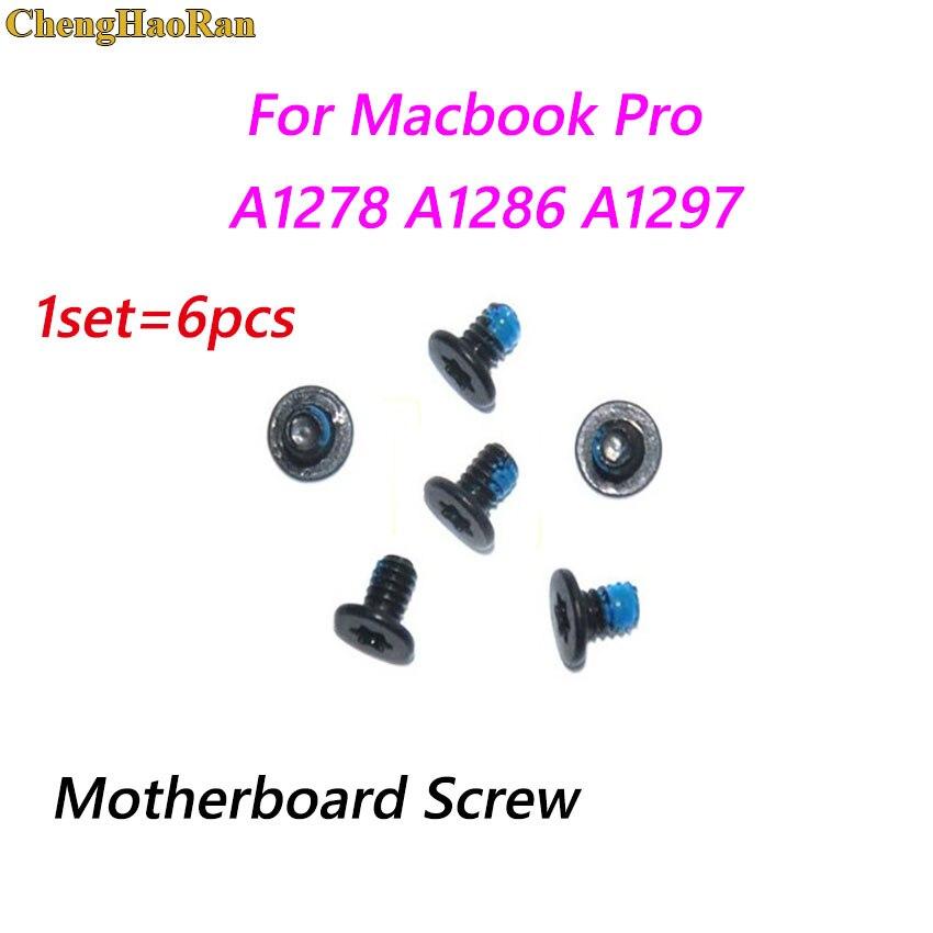 Chenghaoran 1 conjunto placa-mãe placa lógica parafusos de parafuso conjunto substituição para macbook pro a1278 a1286 a1297