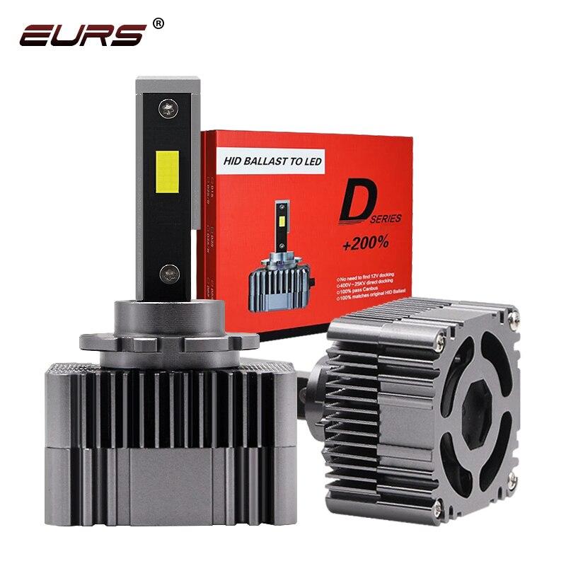 EURS 11 HID 전구 디자인 100% Canbus D1S D2S D3 D4 D5 Led 전조등 전구 6000K 90W 10000LM 12V 24V 자동 전조등