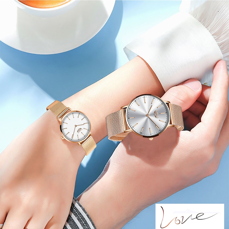 LIGE 2020 Couple Watches For Lovers Top Brand Luxury Quartz Clock Waterproof Wristwatch Fashion Casual Ladies Watch Couple Love