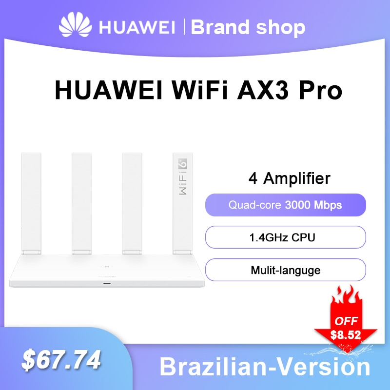 هواوي-راوتر واي فاي AX3 Pro ، ثنائي النواة ، AX3 Pro ، رباعي النواة ، 6 3000 ميجابايت لكل ثانية ، 2.4 جيجاهرتز ، 5 جيجاهرتز ، جيجابت ، نطاق مزدوج ، راوتر لا...