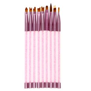 MagiDeal 9x Nail Art Acrylic Brush Manicure Beauty Painting Drawing