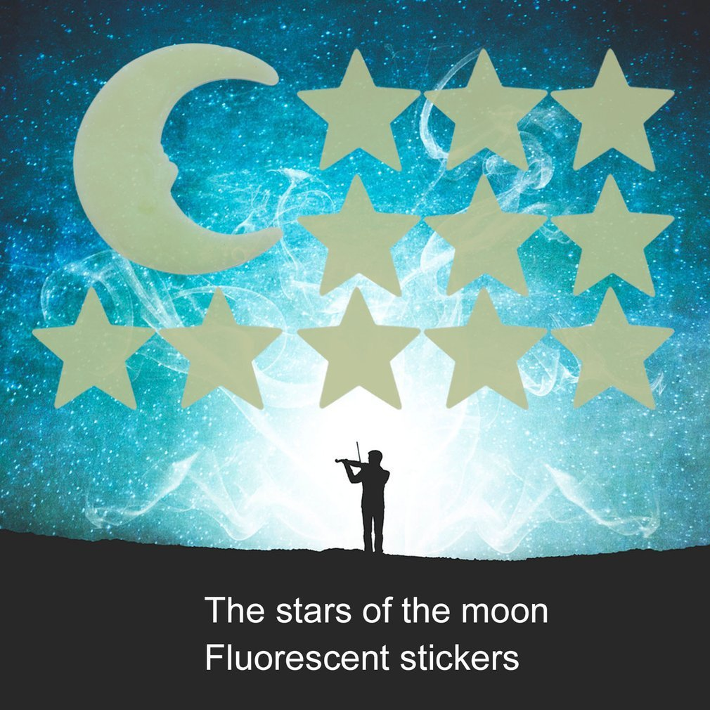 Stars Moon Glow Style Home Kids Rooms Bedroom Ceiling Wall Decoration In The Dark DIY Luminous Fluorescent Decal Wall Stickers