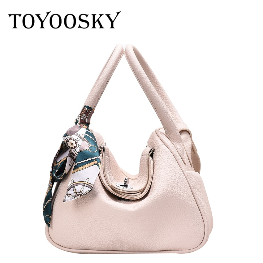 TOYOOSKY Elegant Women's Bag Luxury High Quality Hobo Handbag Brand Designer Boston Shoulder Bag Scarf Office Lady Bucket Bag