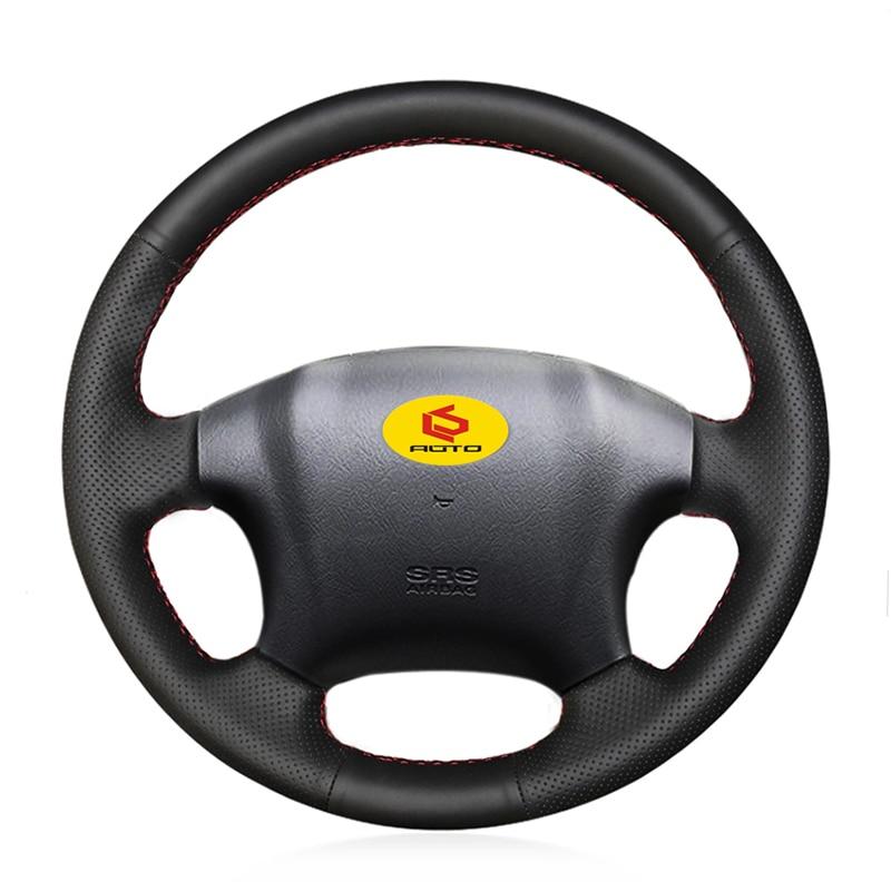 Braid on the Steering Wheel Cover for Hyundai Tucson 2006-2014 funda volante leather steering wheel case