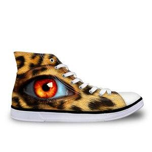 HaoYun Women High-Top Canvas Shoes Ladies Breathable Vulcanized Shoes Arts Eyes Design Female Comfortable WalkingSneaker Shoes
