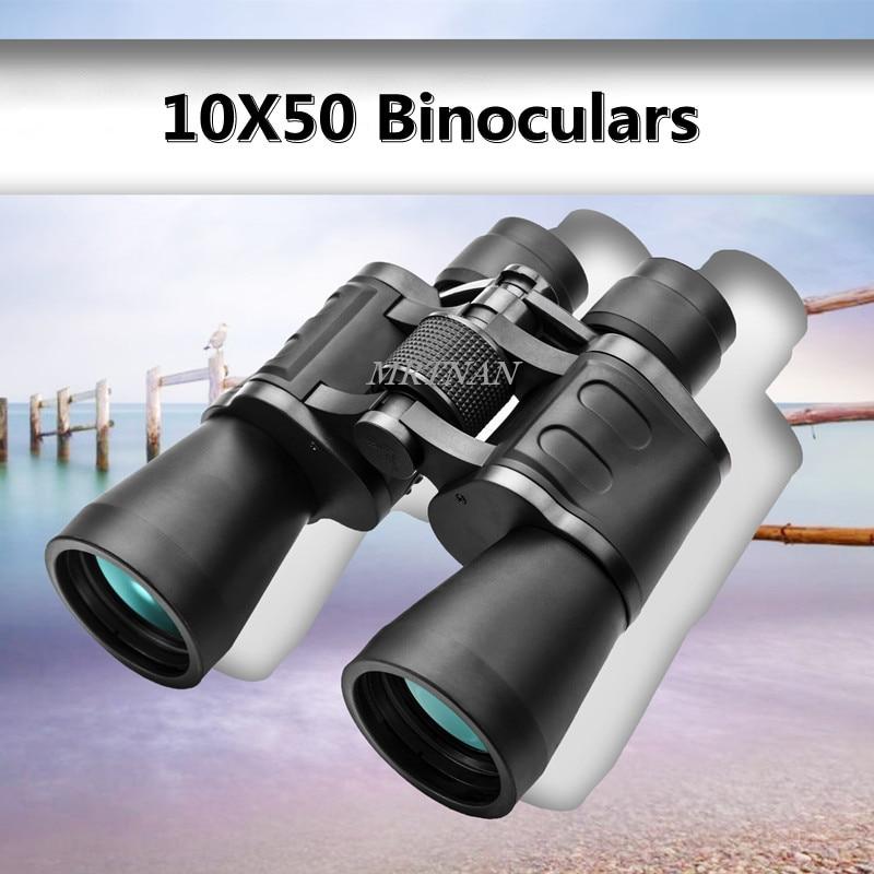 Binóculos de Alta Definição de Alta Lente de Vidro Adequado para Caça Acampamento ao ar Potência Telescópio Óptico Esportes Livre 10*50