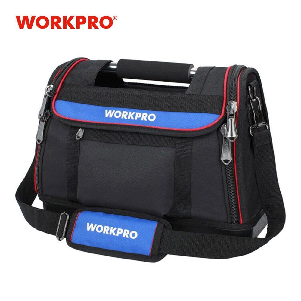 "WORKPRO 15"" Open Top Tool Bag Heavy Duty Tool Storage Bag Tool Organizer Multifunctional Bag Men Crossbody Bag for Tools"