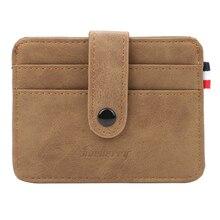 Super cienkie karty portfele marka projektant mężczyzna posiadacze kart matowa skóra Slim etui na karty kredytowe człowiek rocznika mała torebka