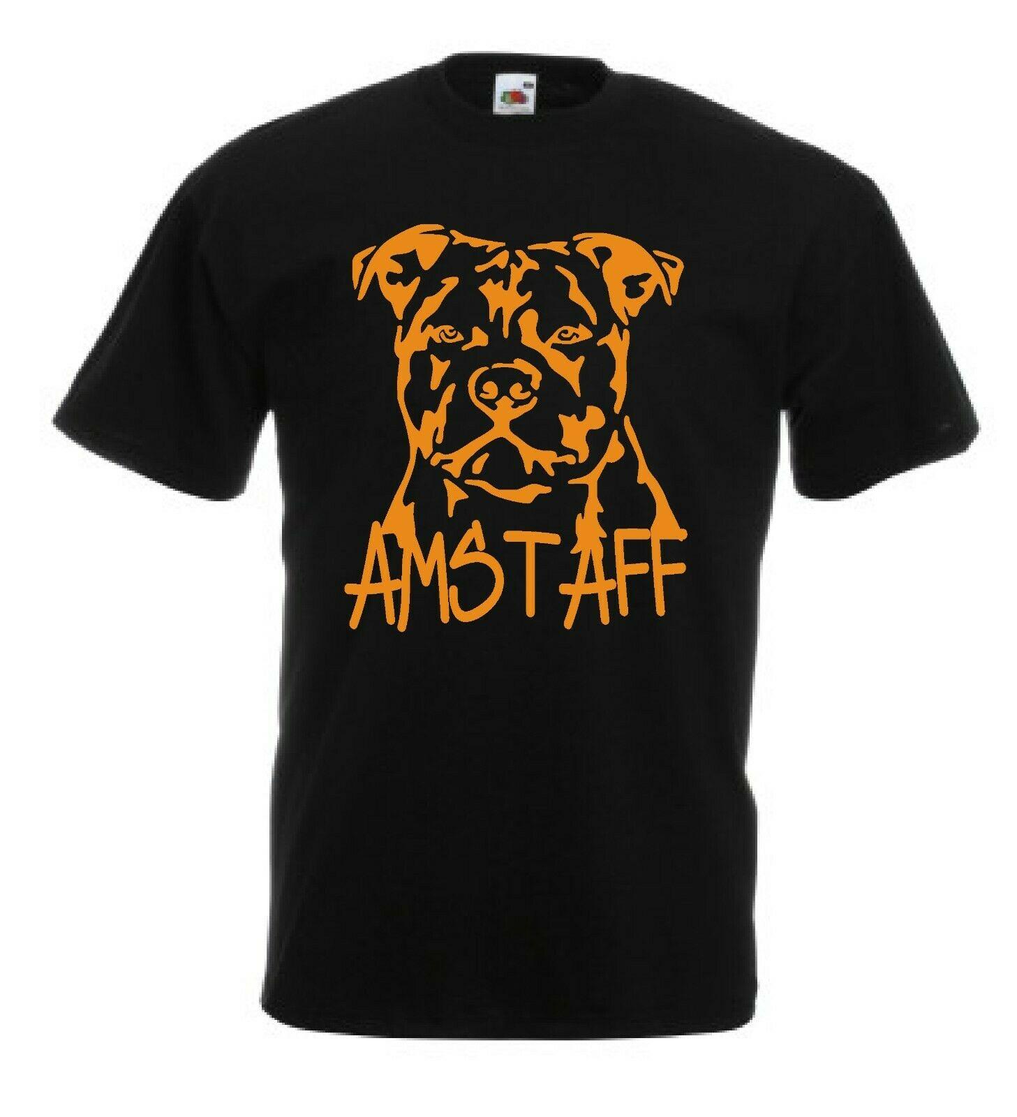 T Shirt Amstaff American Staffordshire Terrier Dog Taglie Anche Per Bambini