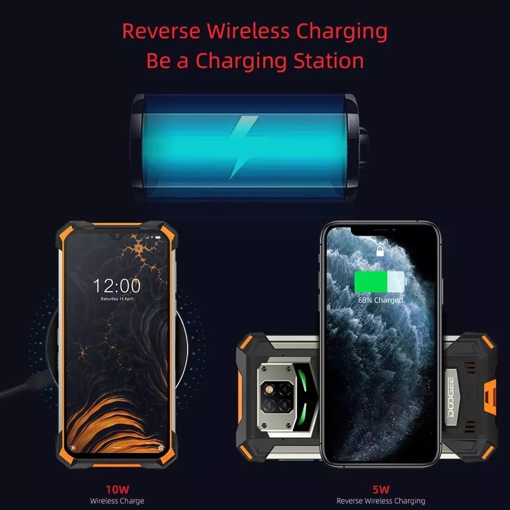 DOOGEE S88 Pro IP68/IP69K Rugged Phone 10000mAh Android 10 Quick Changing Helio P70 Octa Core 6.3'' 19:9 6GB RAM 128GB ROM NFC