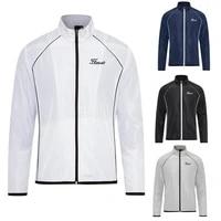 new mens golf windbreaker summer fashion sport coat rash guards thin breathable sunscreen jacket for men