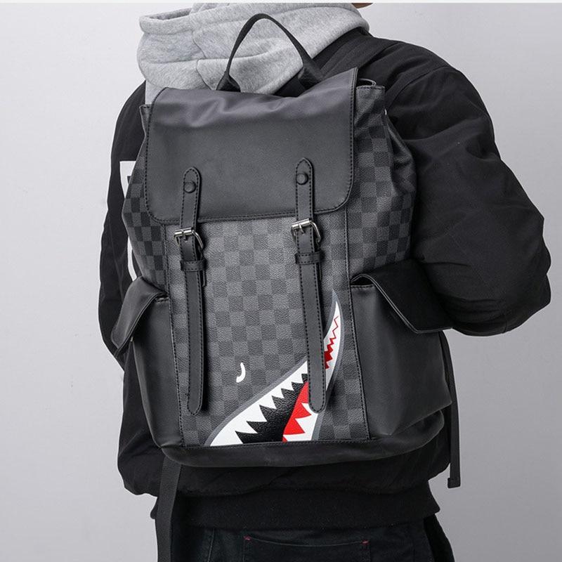 Вместительные модные рюкзаки, мужской рюкзак в виде акулы, многофункциональный мужской рюкзак для ноутбука с USB-зарядкой, школьный портфель