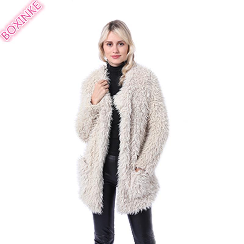 Fur   Faux Fur faux fur South Africa LADI FLUFFI JACKET vest fur BOXINKELEOPARD FAUX COAT Faux Leather pink fur coat Sashes 3XL фото