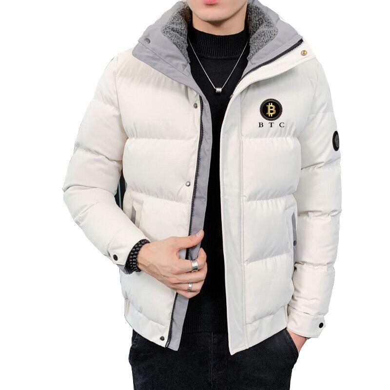 Теплая зимняя мужская куртка, легкие и складывающиеся пуховики, водонепроницаемые, ветрозащитные, дышащие, Пуховики с воротником-стойкой,