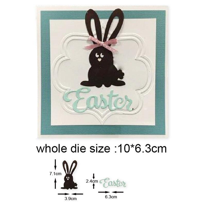 Easter Bunny Rabbit Metal Cutting Dies for DIY Scrapbooking dies Photo Craft Handmade Card Punch Art Cutter
