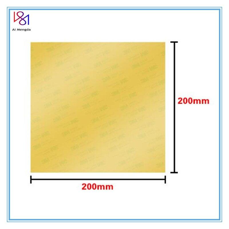 Impresora 3D PEI 3D, superficie construir impresión 150/200mm con cinta 3M, hoja PEI de poliéster, espesor de 0,3mm para CR10 Ender-3 1 Uds.