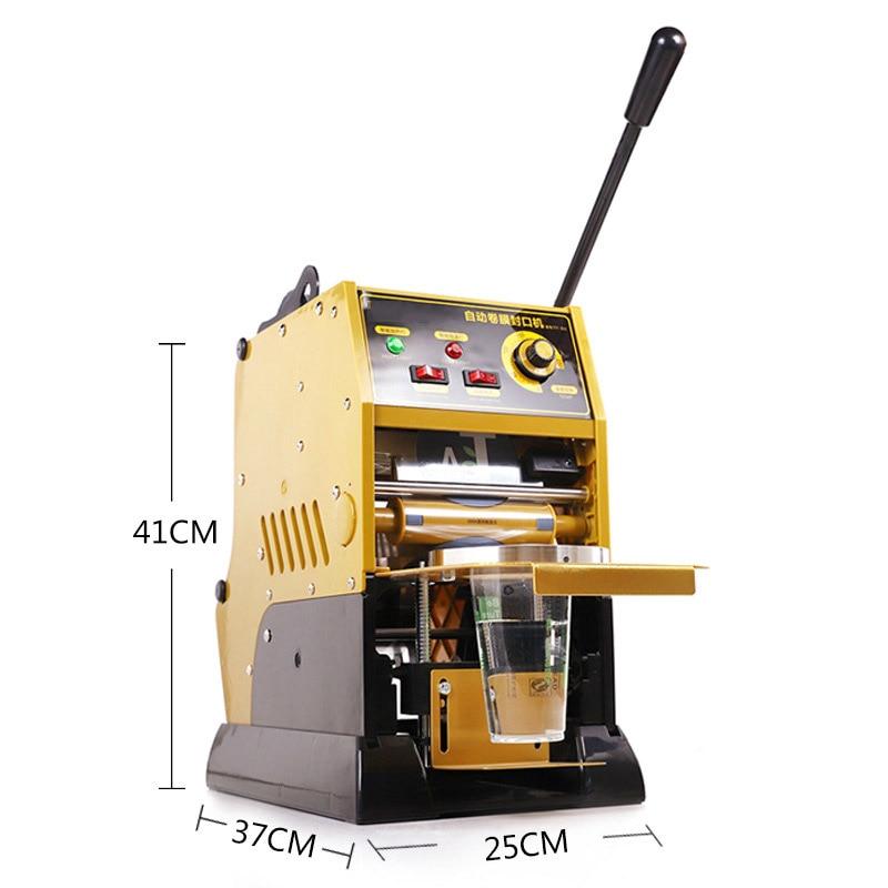 شبه التلقائي آلة الختم 300-400 أكواب/ساعة التجارية 220V50HZ يمكن ختم ورقة/أكواب بلاستيكية مع ارتفاع أقل من 18 سنتيمتر