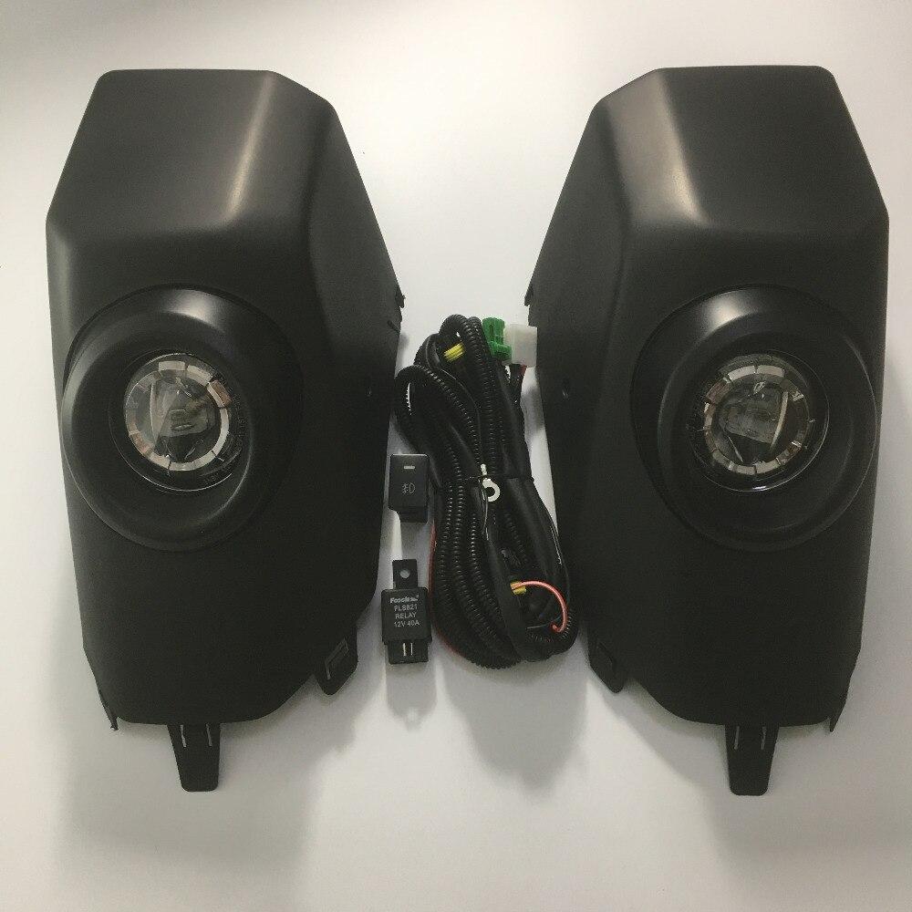 LED para Toyota FJ Cruiser 2007-2017, luz antiniebla negra, luz de circulación diurna DRL, conjunto de Kit de luz de conducción diurna