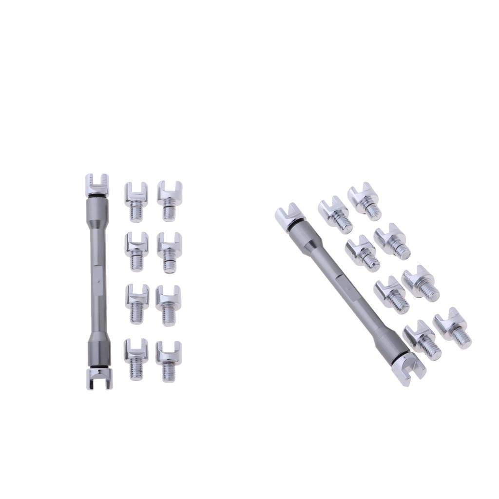 2X llave de radios gris Motorcross 5,0-6,8mm herramientas de reparación de rueda de Motor
