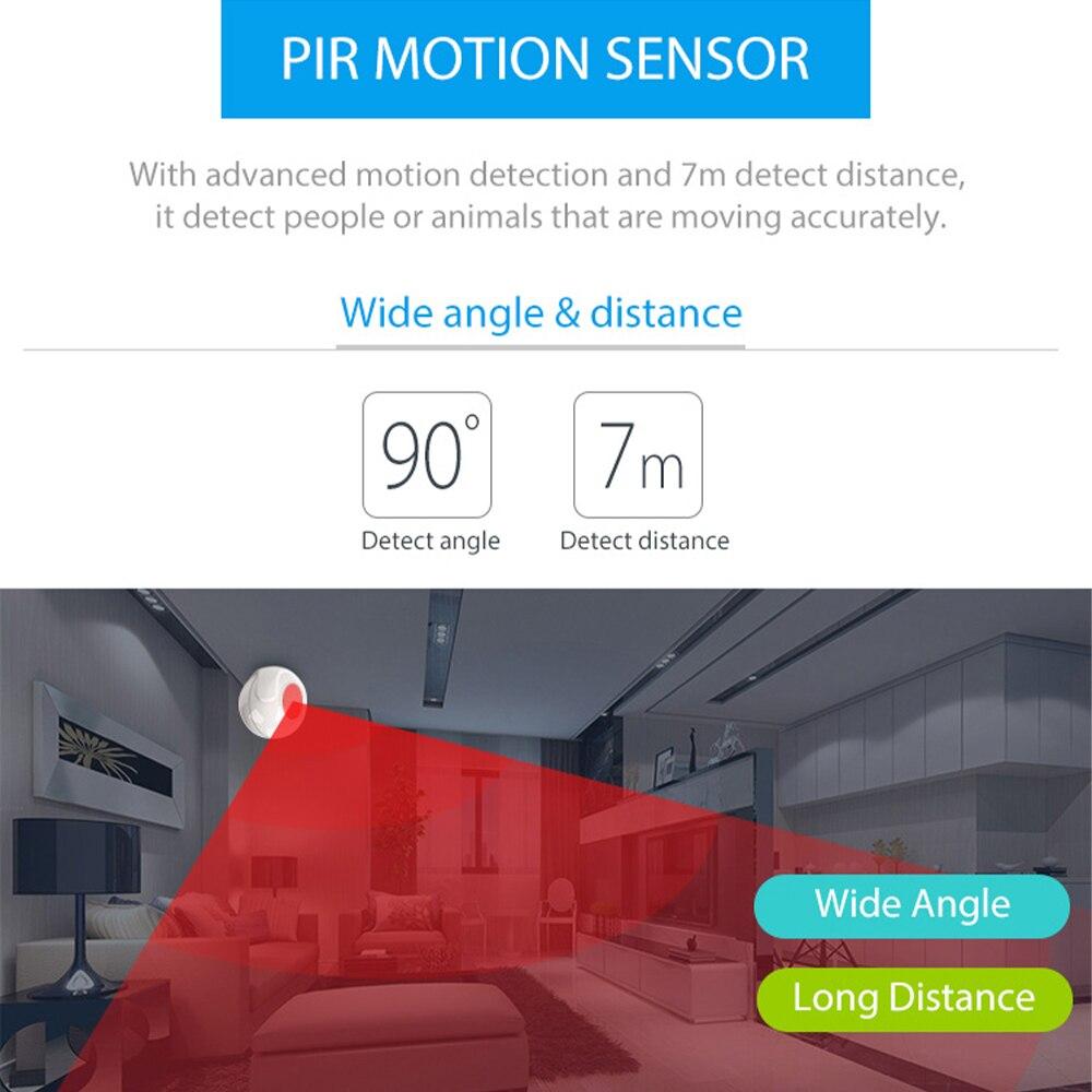 Alexa Google Tuya Video Alarm System Smart Scenario Setting with PIR Detector Door Sensor 100db Siren Alarm HD WIFI IP Camera enlarge