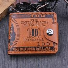 Kadın cüzdan erkek abd dolar deri PU Bifold kısa cüzdan erkekler çile Vintage bozuk para cüzdanı kredi kart tutucu tasarımcı çantası 19Dc