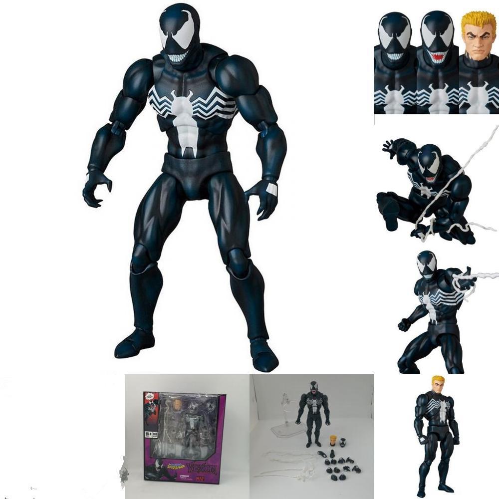 16cm nuevo Mafex 088 Venom versión cómica figura de acción modelo de juguete regalo de Navidad para niños