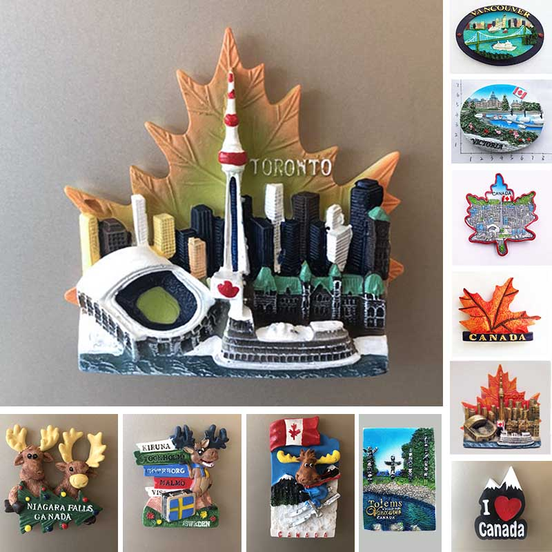Canada Vancouver Totems Fridge Magnet Toronto Victoria Tourist Souvenir House Decoration Resin Refrigerator Magnetic Stickers dubai tourist souvenirs fridge magnets khalifa tower saudi arabia refrigerator commemorative magnet stickers home decoration