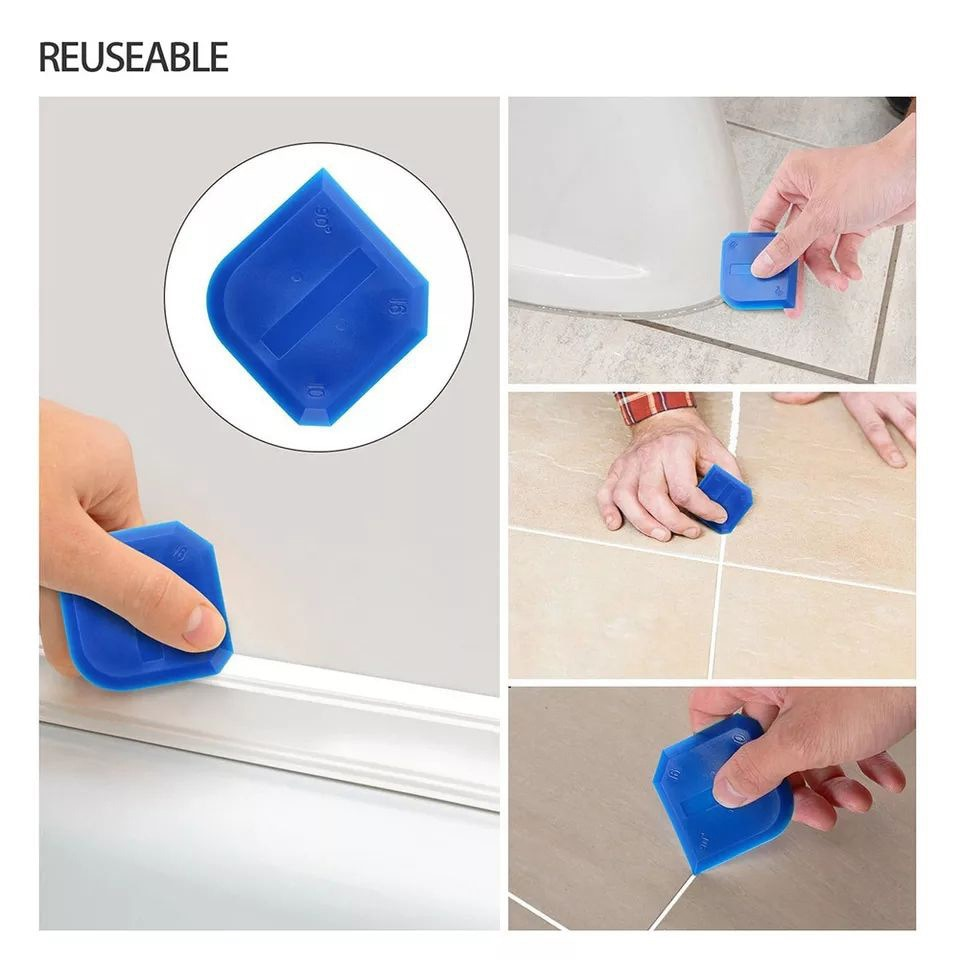 27PCS Metal Spatula Nozzle Silicone Caulking Tools Sealant Finishing Grout Kit Smooth Scraper Floor Cleaning Tile Dirt Spatula enlarge