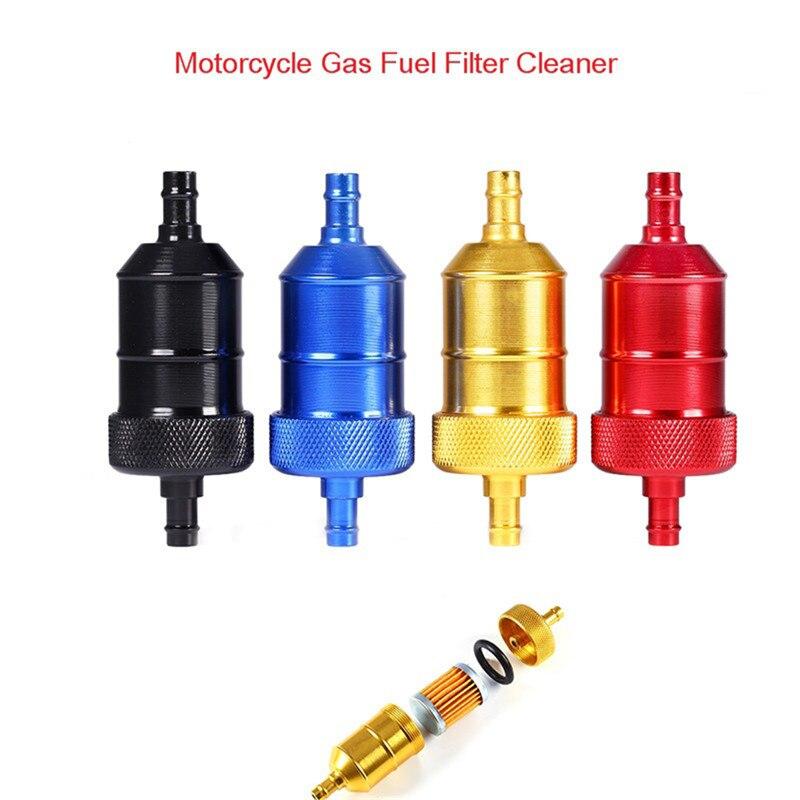 Filtro de gasolina y combustible de 8mm de 5 colores para motocicleta Pit Dirt Bike ATV cuatriciclo filtro de combustible de petróleo y Gas en línea