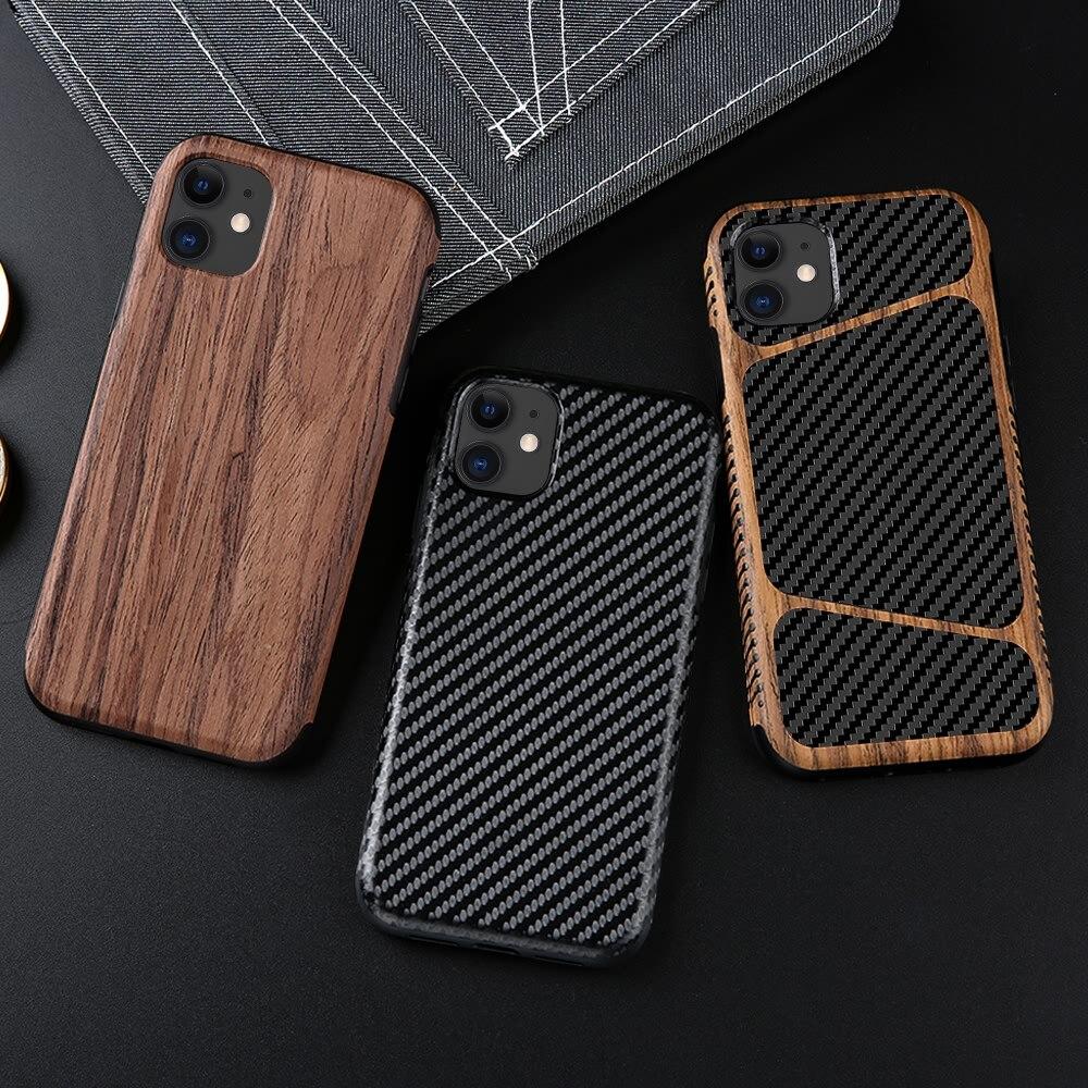 Fibra de carbono do vintage caso macio para iphone 11 pro x xr xs max à prova de choque silicone telefone capa para iphone 8 plus 7 6s 6 5 5S se